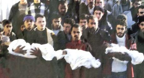 funerale bambini a gaza 5 genn 09