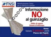 manifestazione FNSI