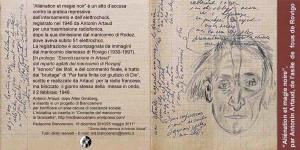 copertina video Artaud a Rovigo