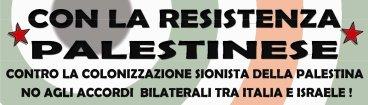 con la resistenza palestinese