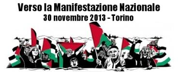 manifestazione nazionale per la Palestina a Torino