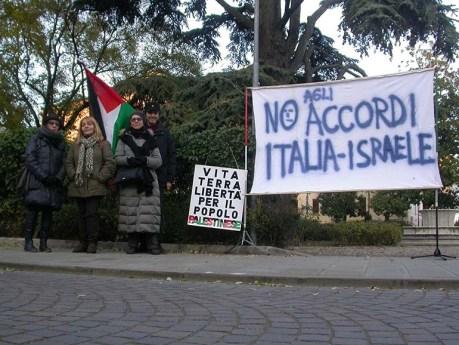manifestazione palestina rovigo 1-12-13