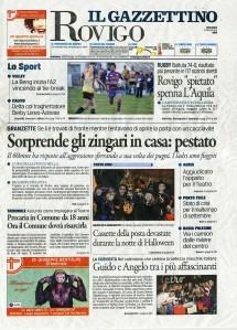 Il Gazzettino Rovigo 2 novembre 2014 pag.I