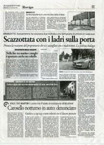 Il Gazzettino Rovigo 2 novembre 2014 pag.III